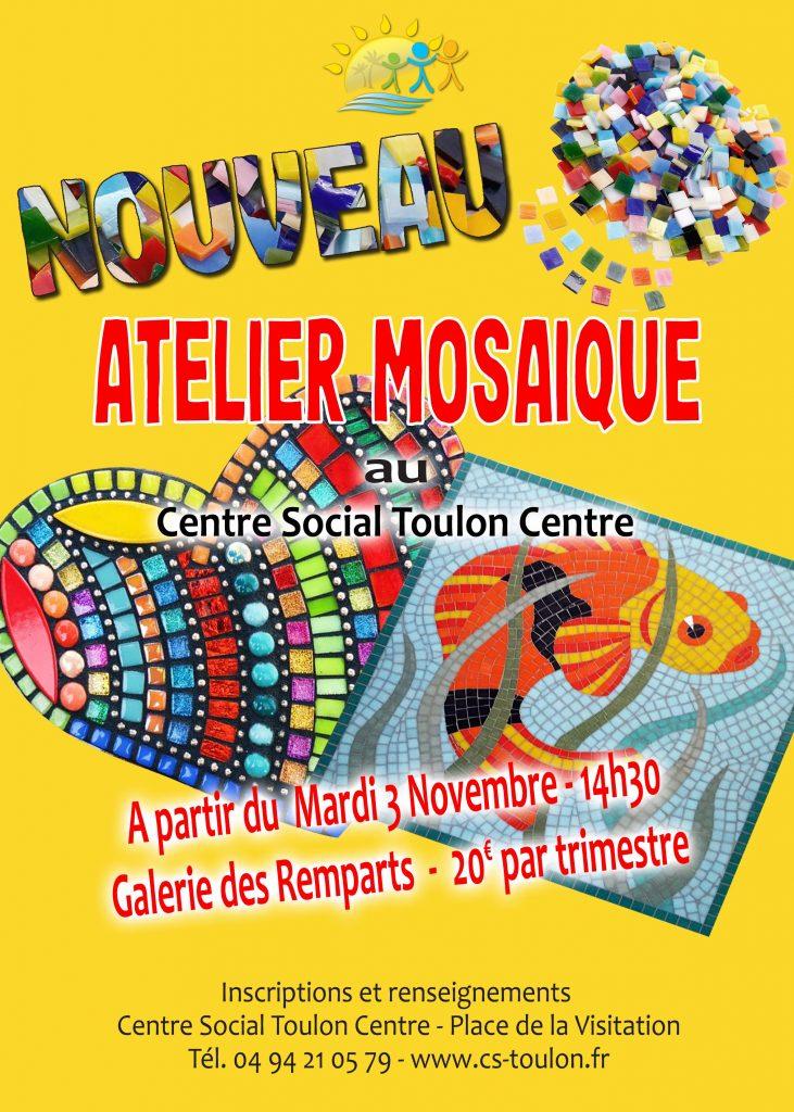 Affiche A3 Atelier mosaique